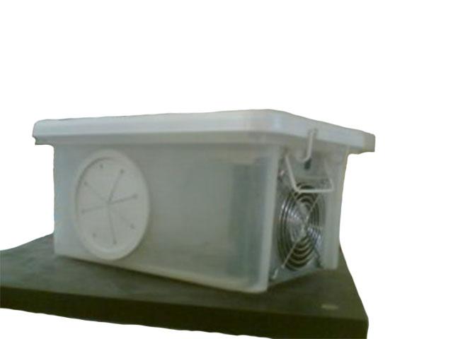 Dust-Inn Blaster System, used in lab box