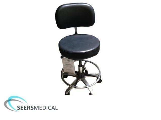 Ex display Seers Dentist's stool in black upholstery