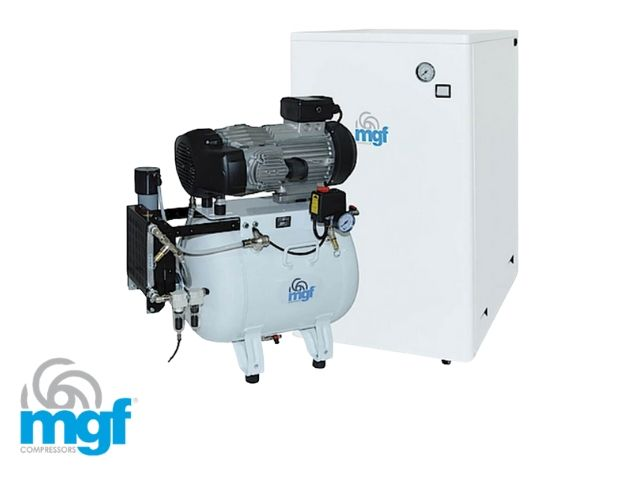 MGF quiet compressor with dryer in cabinet - 3 surgery
