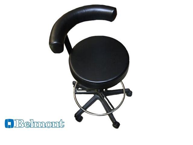 Ex-display Belmont stool in black upholstery