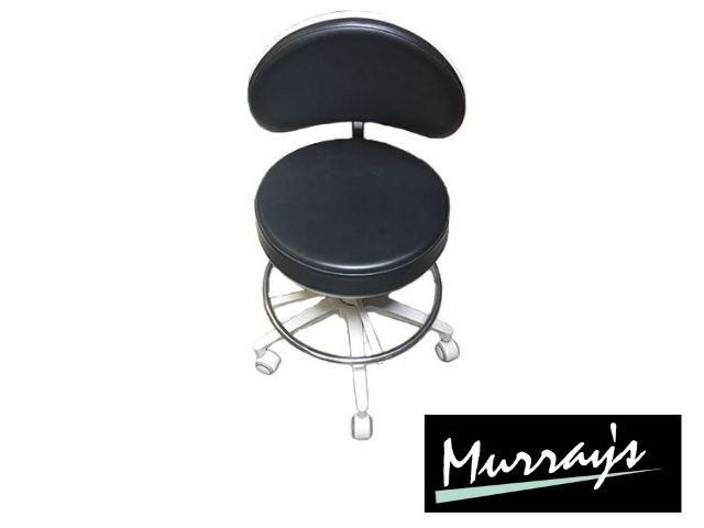 Ex-display Murray Advanced HADV-GN stool in Ultrasoft Raven black upholstery