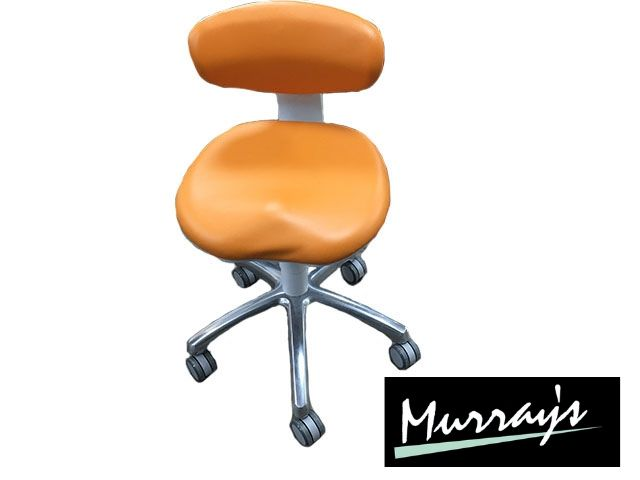 Ex-display Murray Capricorn stool in Ultrasoft apricot upholstery