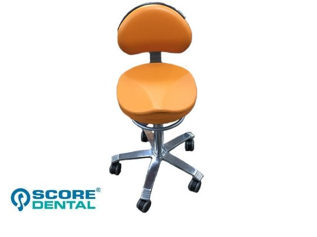 Ex display Score Dentist's stool in apricot upholstery