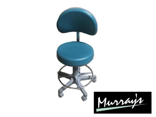 Murray advance stool in Naugahyde Wedgewood