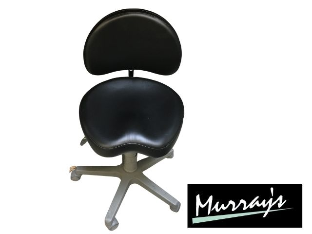 Murray Advance SADV-GT stool in Ultrasoft Raven black upholstery